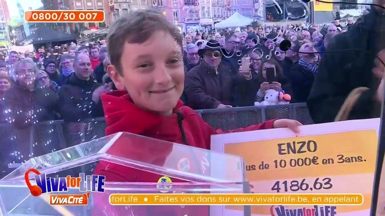 Enzo, 11 ans, a récolté plus de 10.000€ en trois ans pour Viva for Life