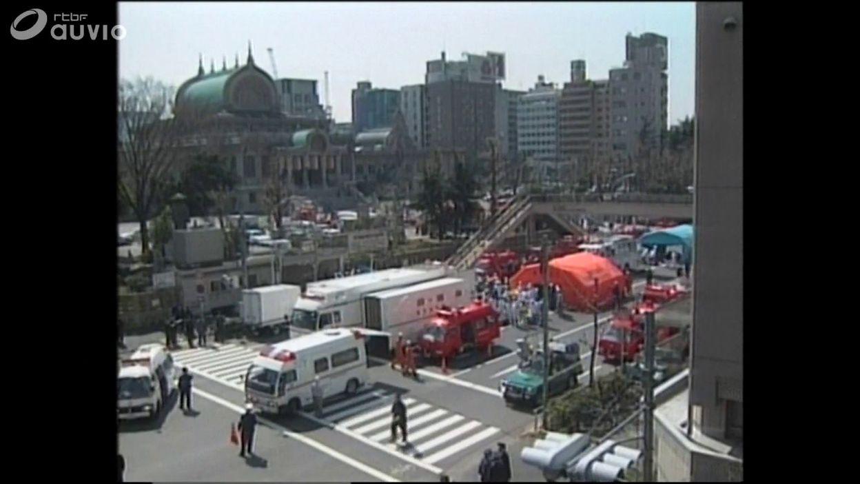 Secte Moon: secours après l'attaque dans le métro de Tokyo, le 20 mars 1995