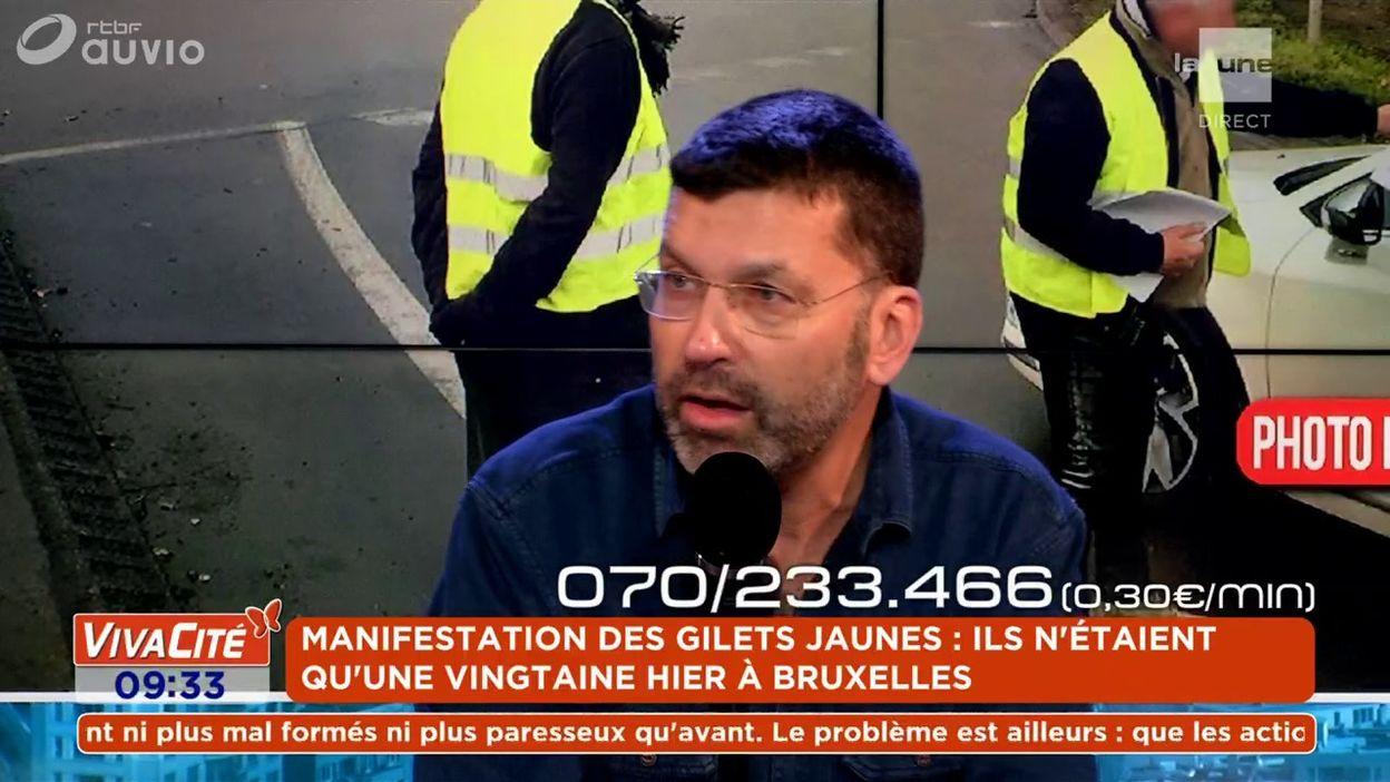 Manifestation des Gilets jaunes : ils n'étaient qu'une vingtaine hier à Bruxelles
