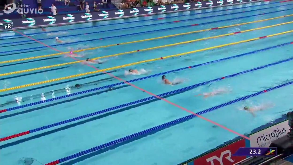 Fanny Lecluyse de justesse en demi-finales du 50m brasse
