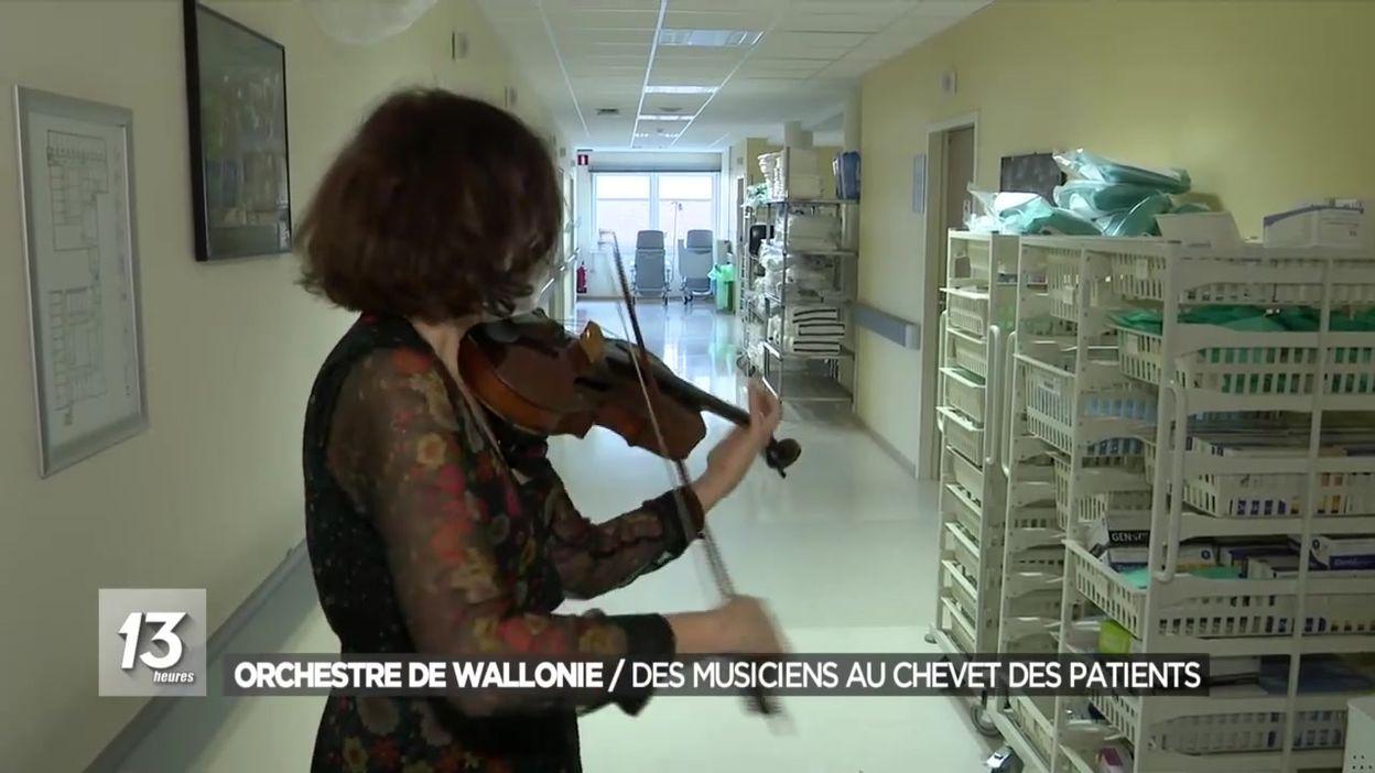 Orchestre de Wallonie : des musiciens au chevet des patients