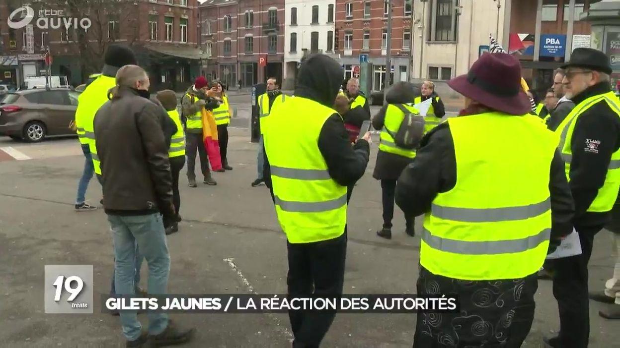 Gilets jaunes en Belgique : la réaction des autorités
