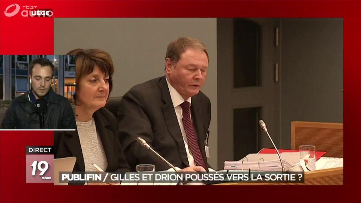 Publifin : André Gilles et Dominique Drion poussés vers la sortie ?