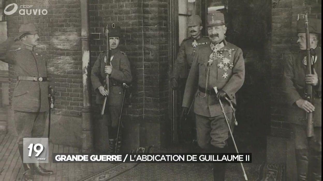 9 novembre 1918 : abdication de l'Empereur Guillaume II