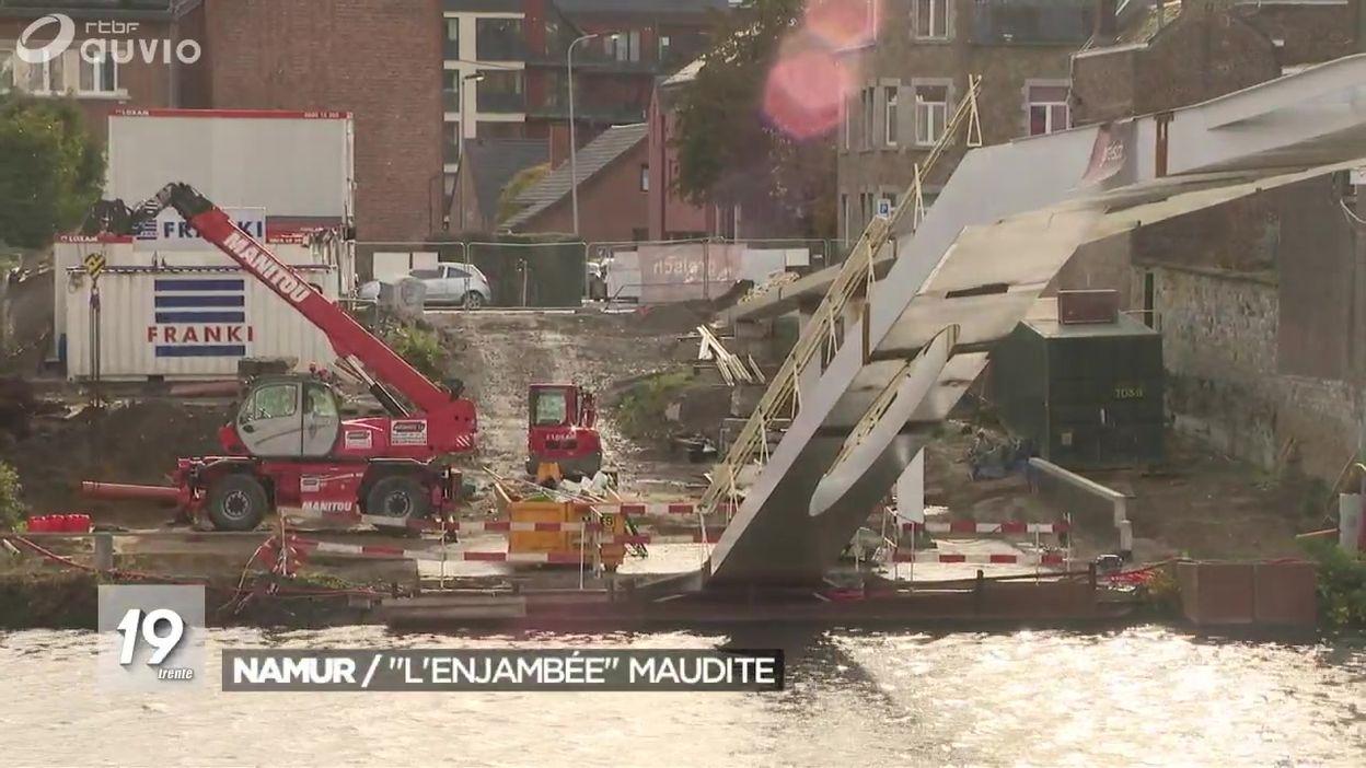 Namur : des malfaçons pour la nouvelle passerelle qui voit son inauguration reportée