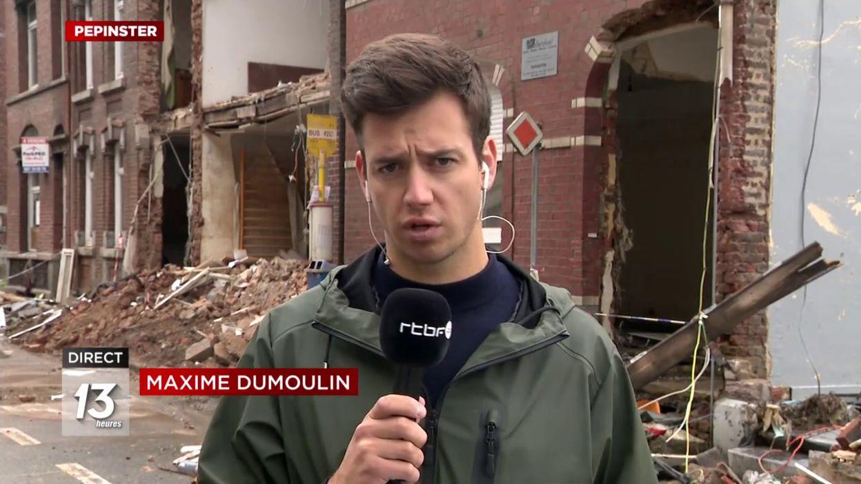 Pepinster : effondrement d'une maison