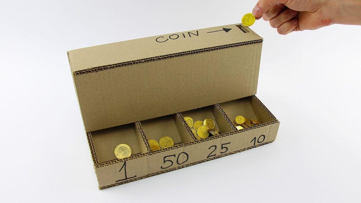 """Comment Fabriquer Une Télé En Carton comment faire une """"machine"""" à classer les pièces de monnaie"""