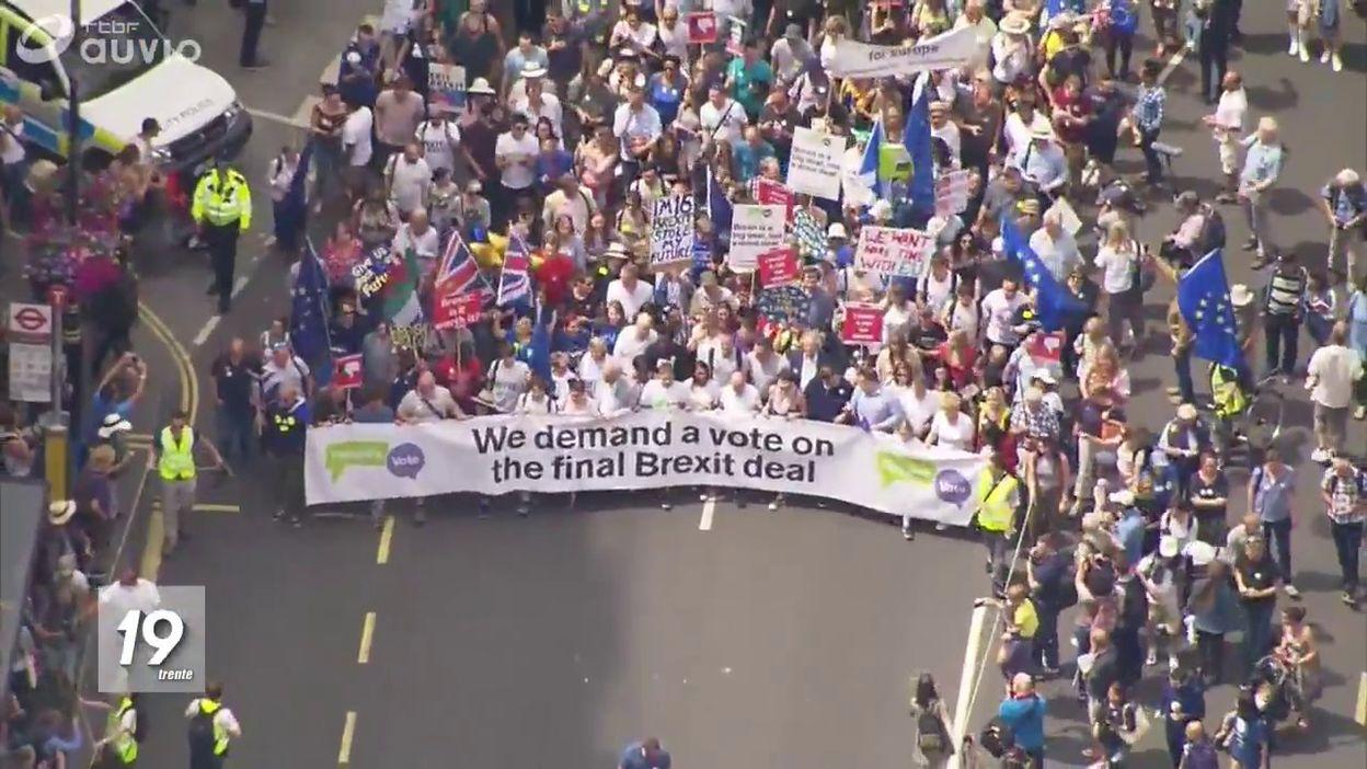 Manif pro-référendum et pro-europe à Londres