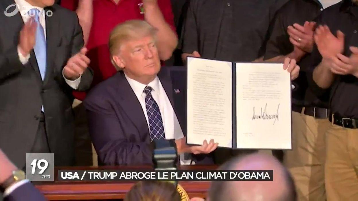 Donald Trump abroge le plan climat Obama