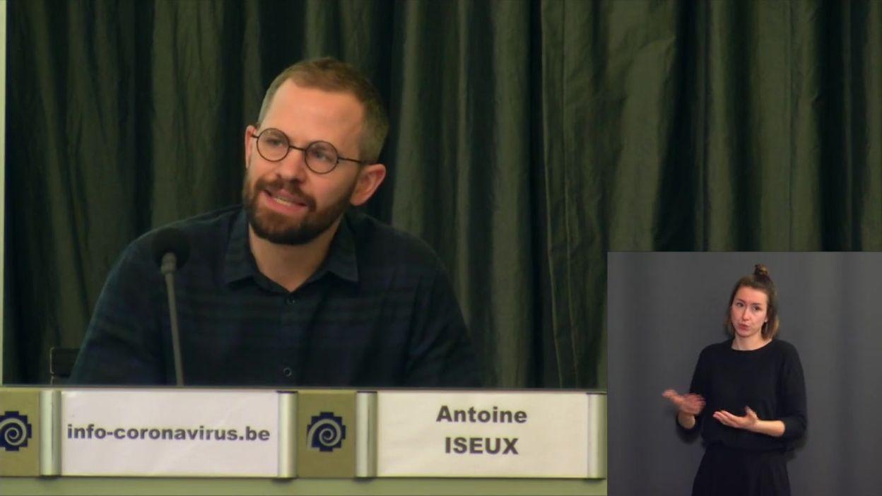 Coronavirus en Belgique : Antoine Iseux