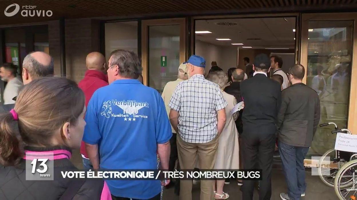 nombreux soucis avec le vote électronique
