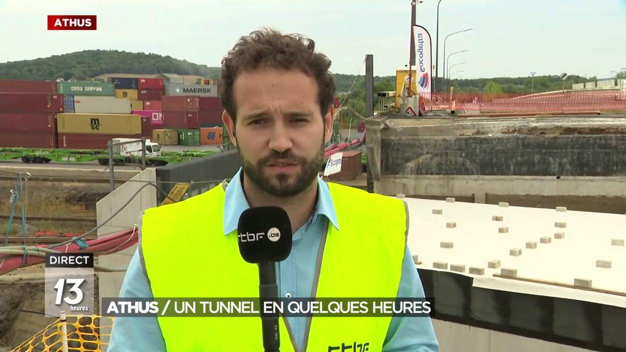 Athus : Un tunnel en quelques heures