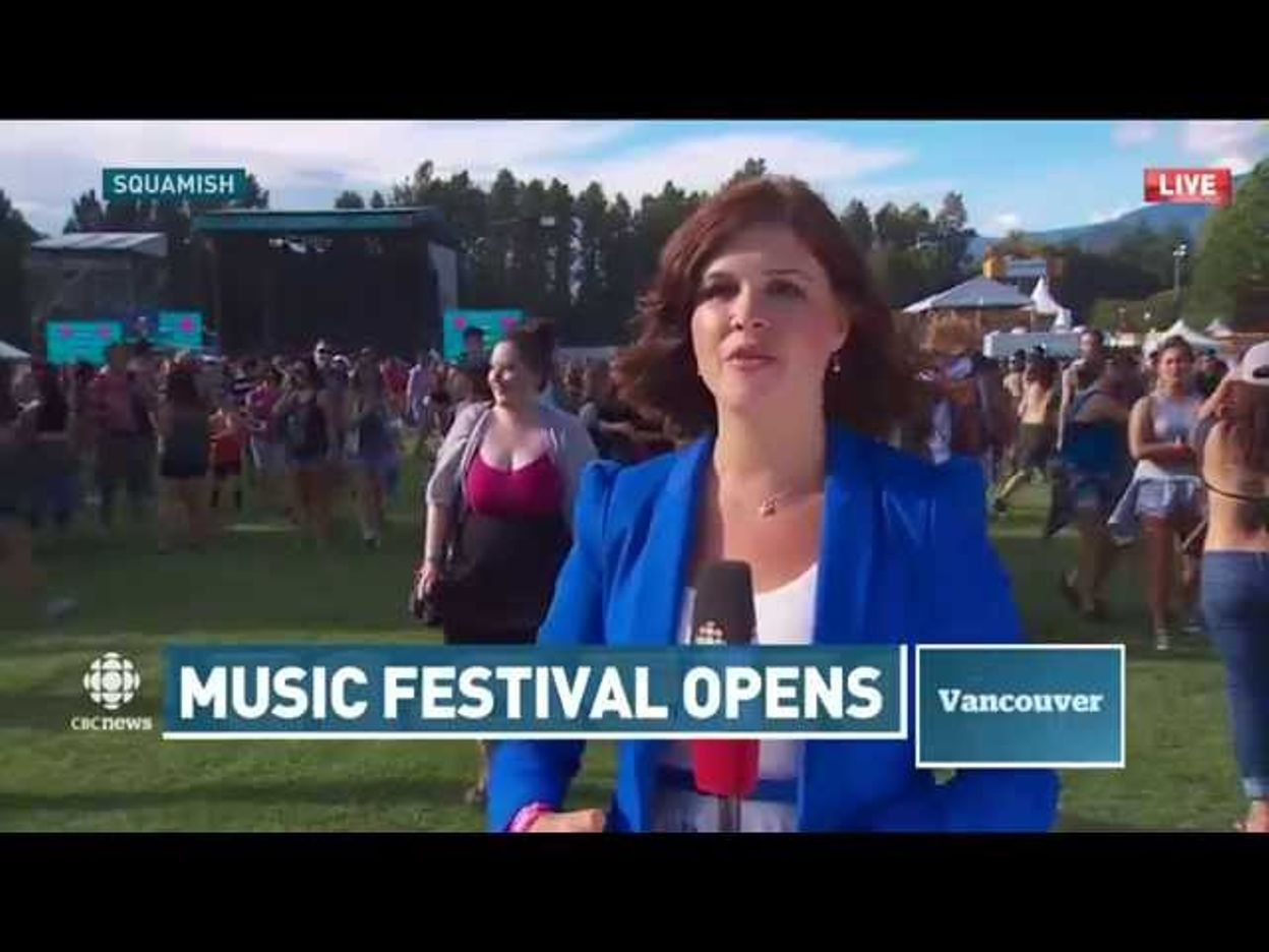 CBC reporter Megan Batchelor gets unwanted kiss from man at Squamish Valley Music Festival   British