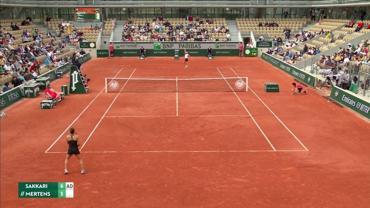 Roland-Garros : Elise Mertens s'incline en 3 sets face à Maria Sakkari