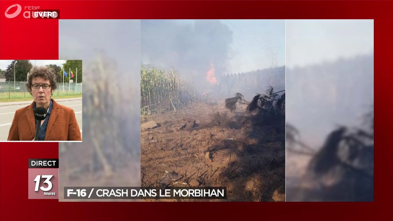 F-16 belge : crash dans le Morbihan