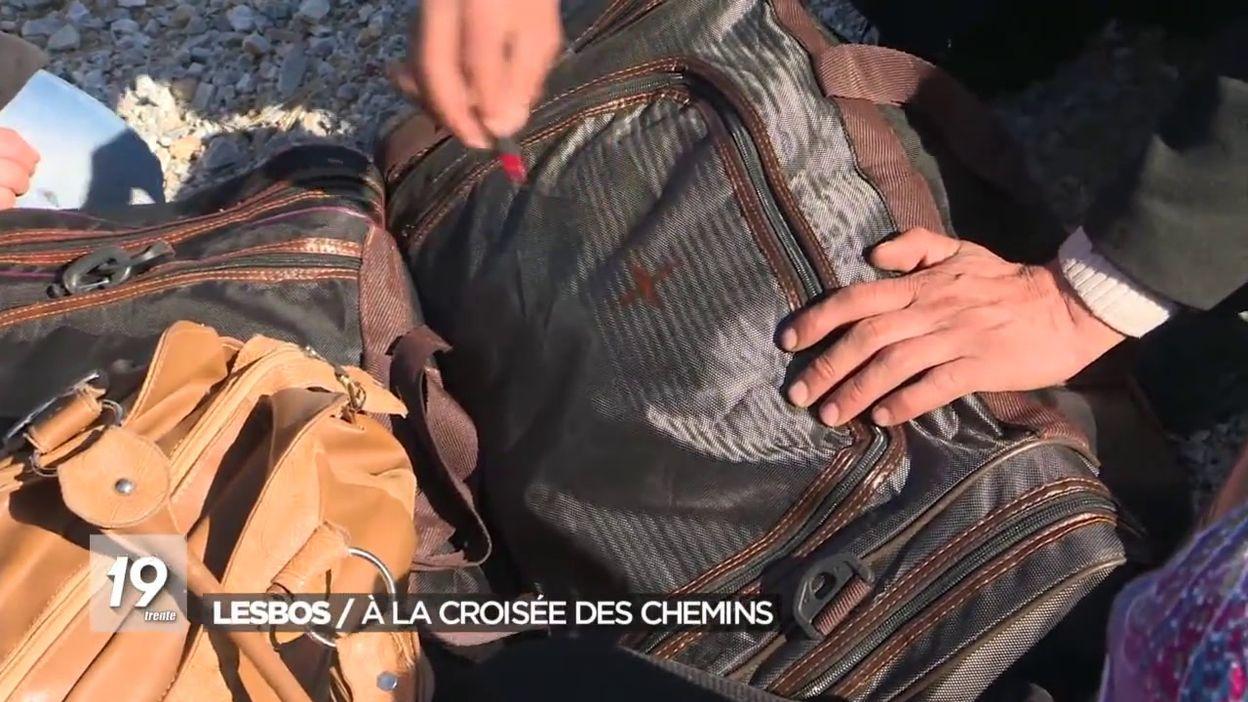 Les migrants à Lesbos en déroute
