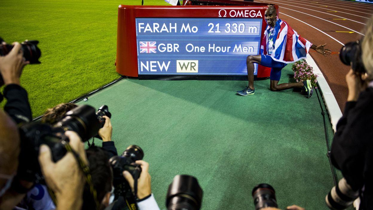 Record de l'heure : Mo Farah → 21,330km (04 septembre 2020)