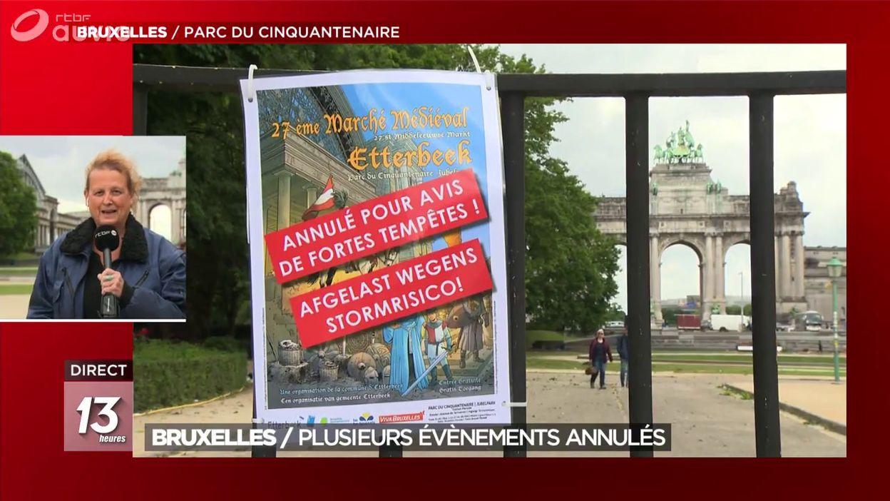 Bruxelles / Plusieurs évènements annulés