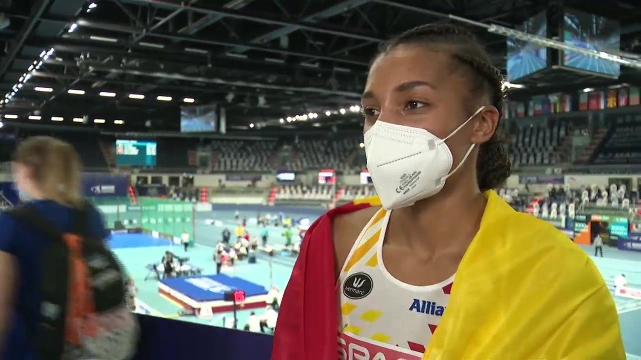 Nafi Thiam, médaillée d'or du pentathlon à Torun :