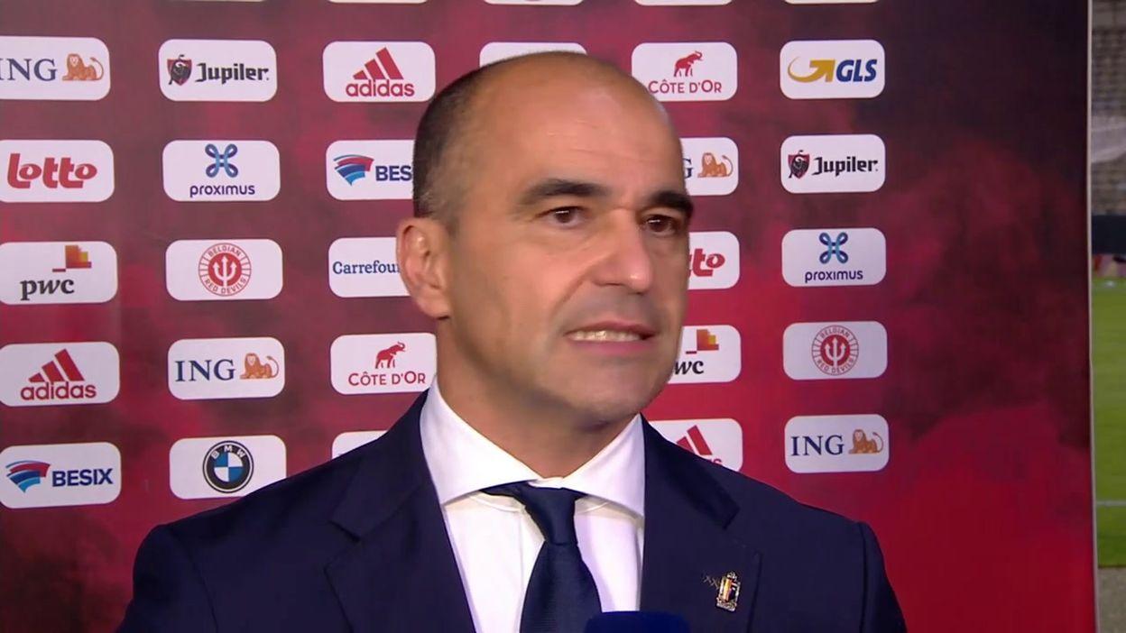 Roberto Martinez content après la victoire contre la Croatie :