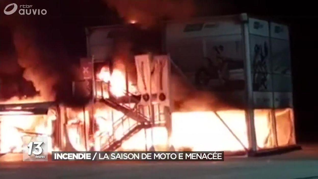 Incendie : la saison de moto E menacée