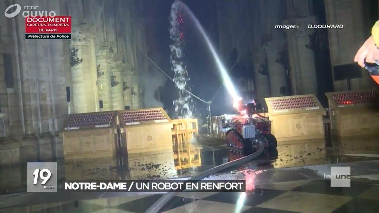 Un robot pour aider les pompiers de Charleroi