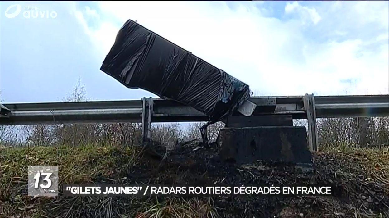 Gilets jaunes : des radars routiers dégradés en France
