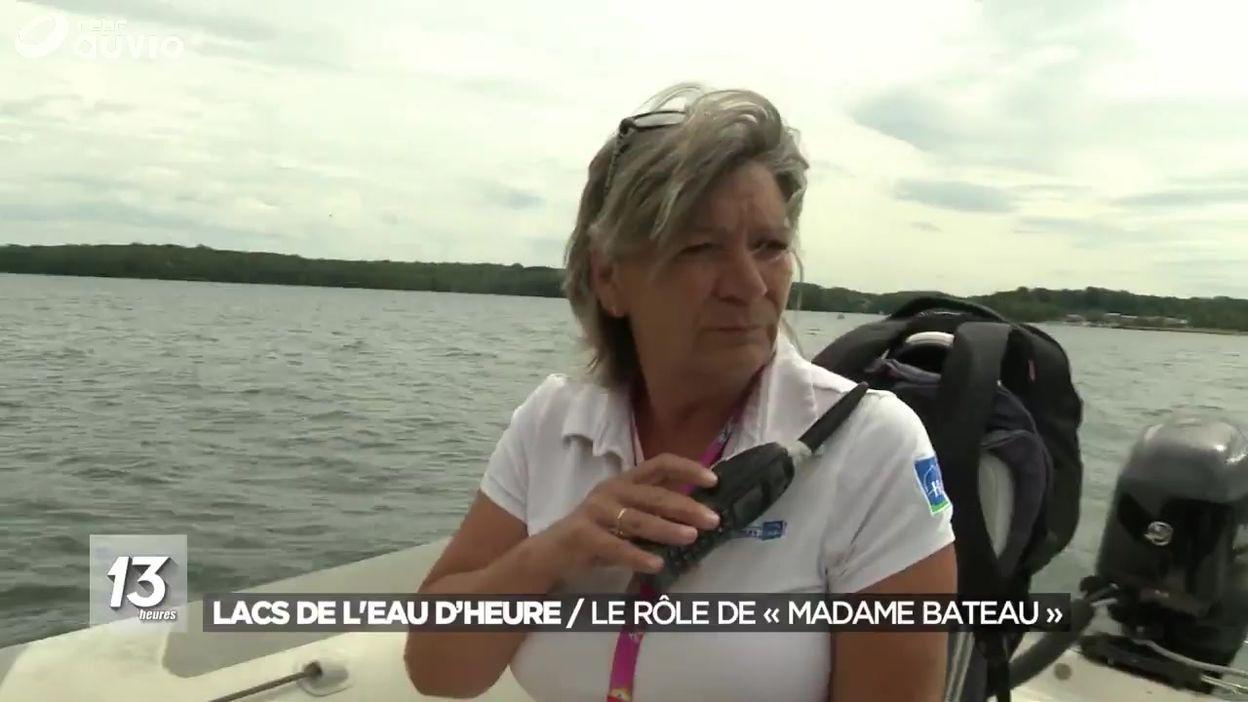 Lacs de l'Eau d'heure : le rôle de « Madame Bateau »
