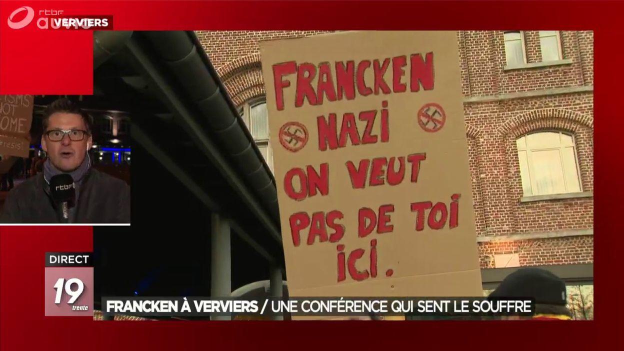 Plus d une centaine de personnes protestent contre la venue de Theo Francken à Verviers (2)