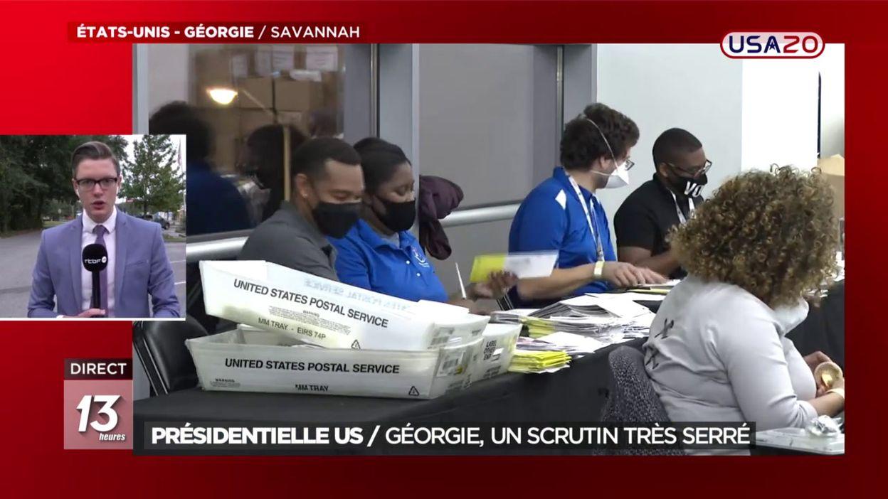 Présidentielle US : Un scrutin très serré en Géorgie
