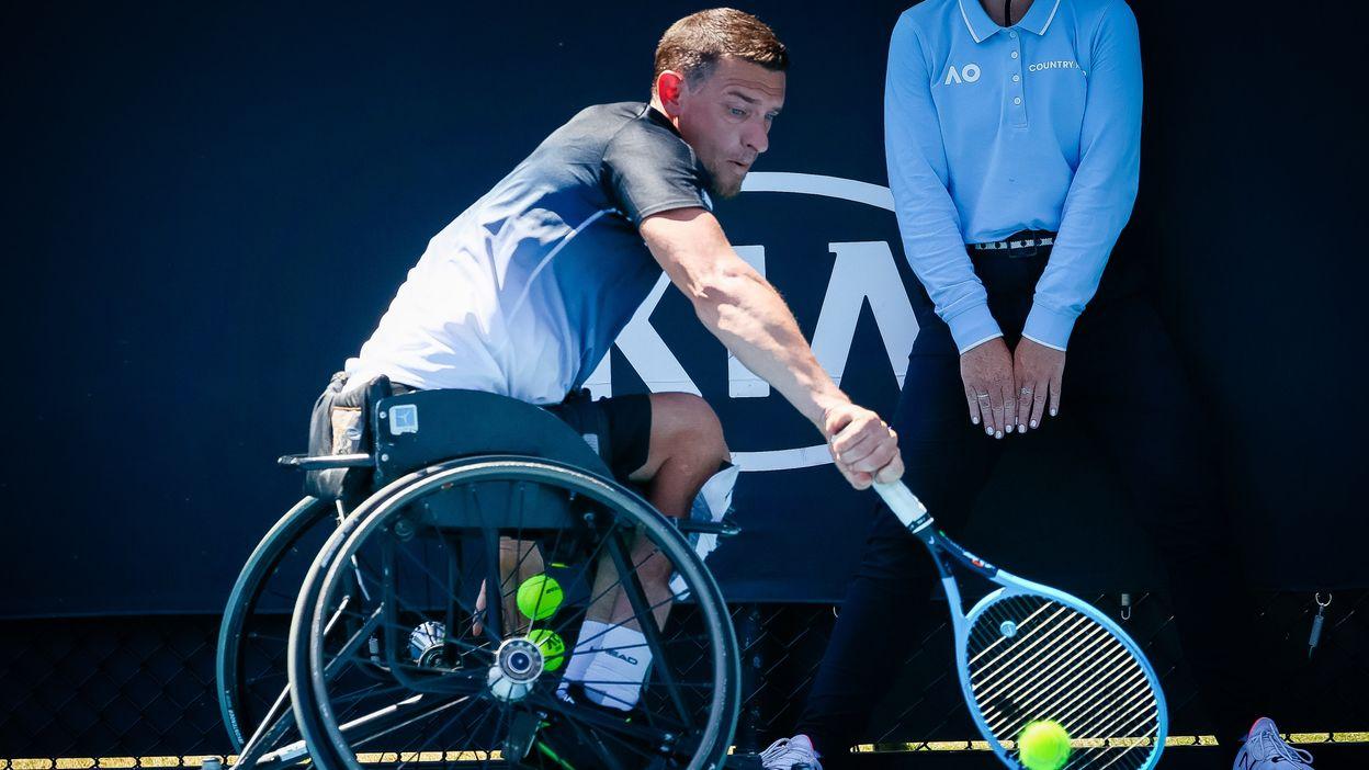 Joachim Gérard après sa défaite à l'US Open
