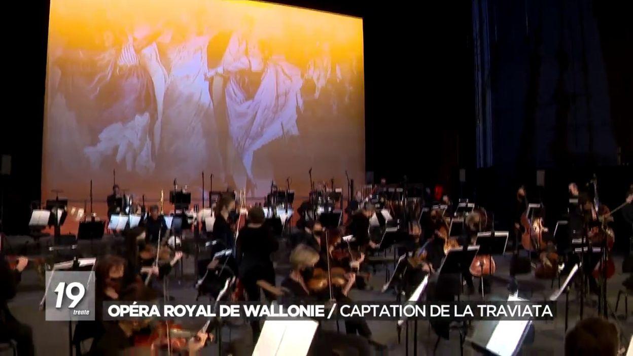 Opéra Royal de Wallonie : Captation de La traviata
