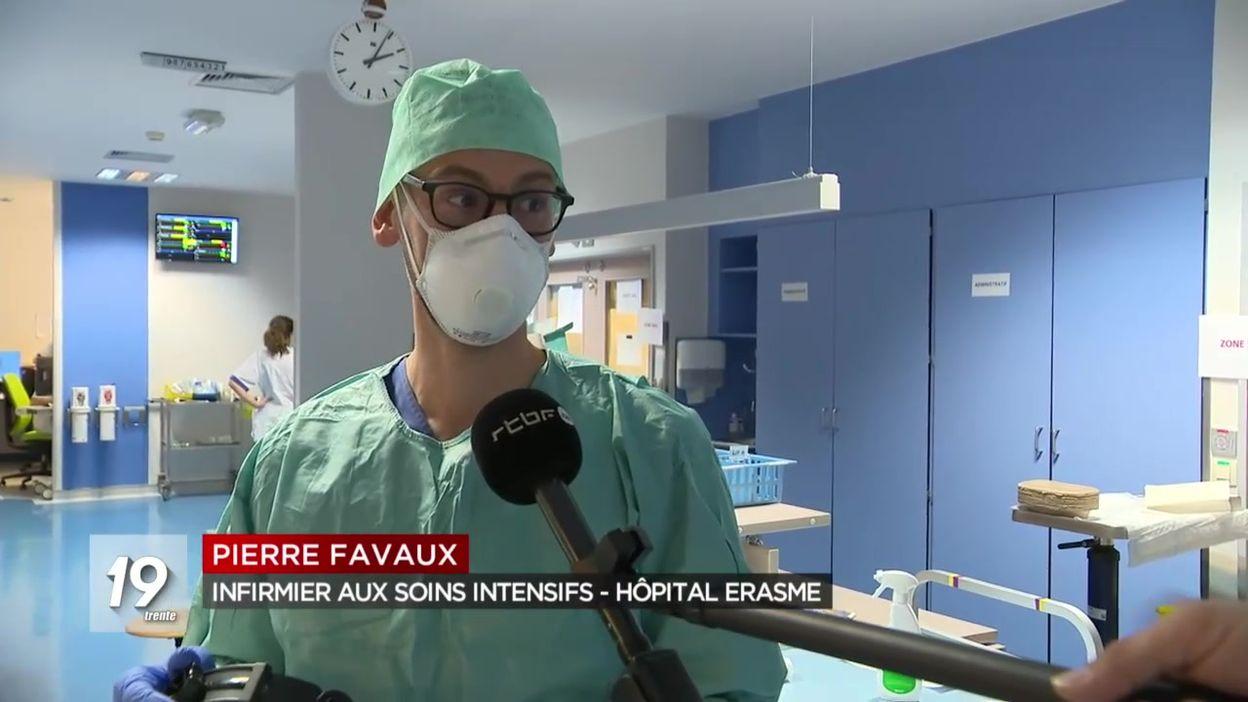 Immersion avec le personnel soignant en zone Covid-19 à l'hôpital Erasme