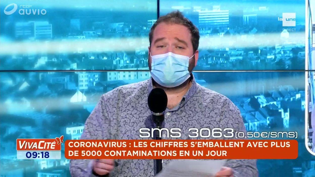 Coronavirus : les chiffres s'emballent avec plus de 5000 contaminations en un jour