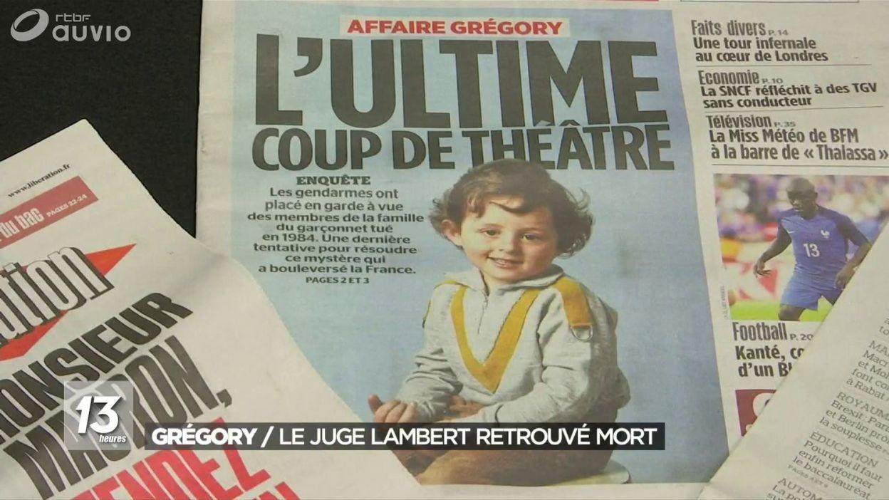 Suicide présumé de Jean-Michel Lambert, juge dans l'affaire Gregory