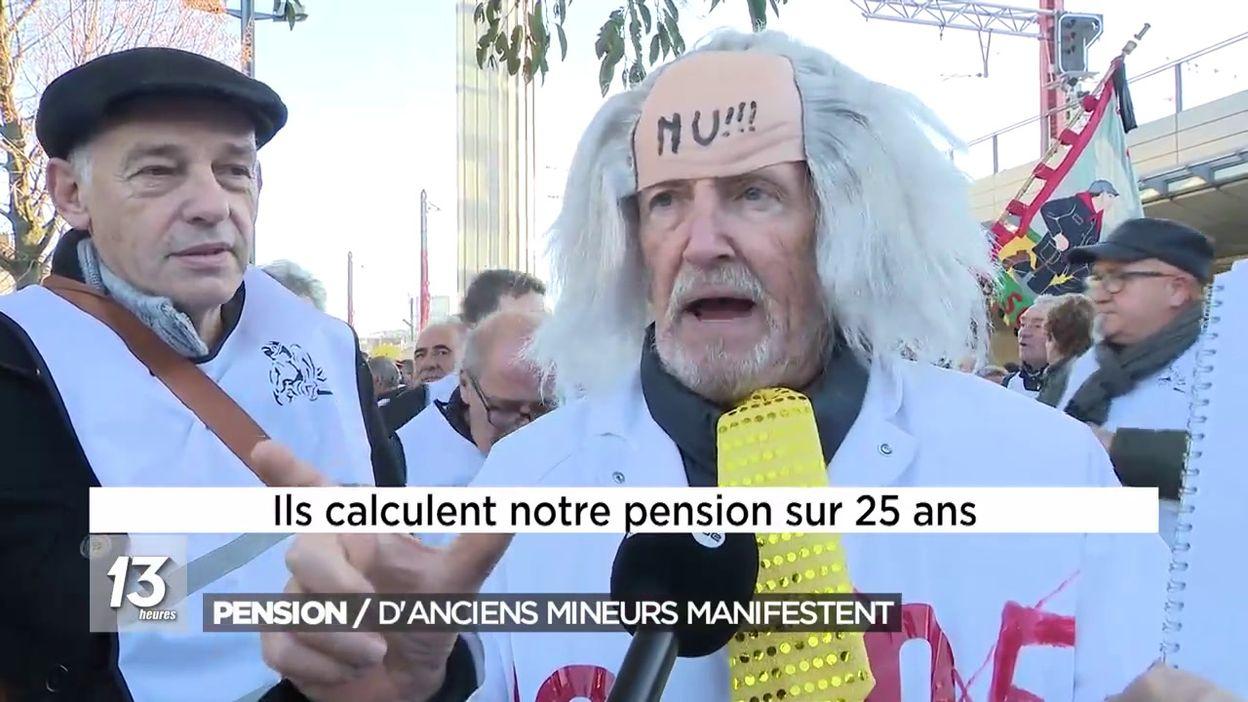 Pension : d'anciens mineurs manifestent