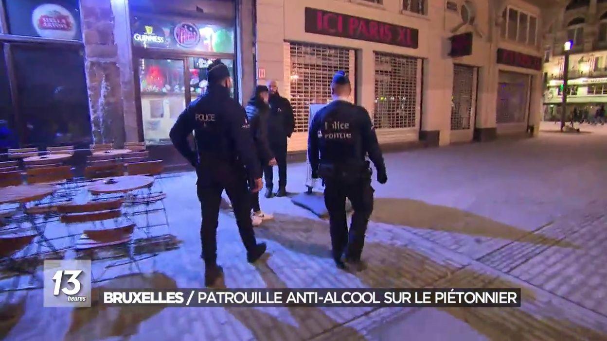 Bruxelles : patrouille anti-alcool sur le piétonnier