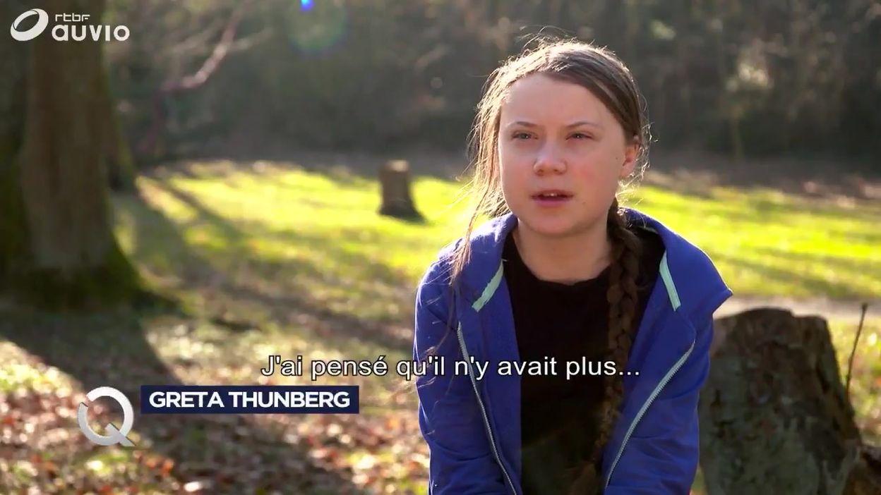 Greta Thunberg évoque son combat dans Questions à la Une