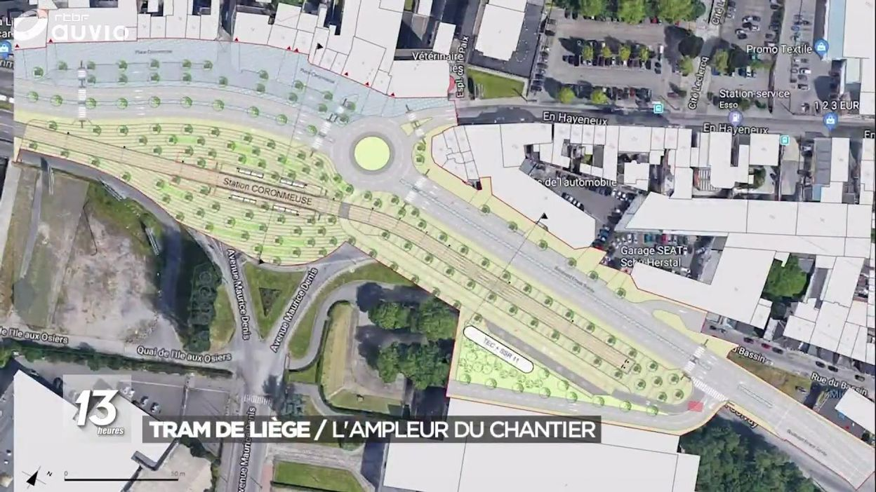 Liège - le projet de nouveau tram
