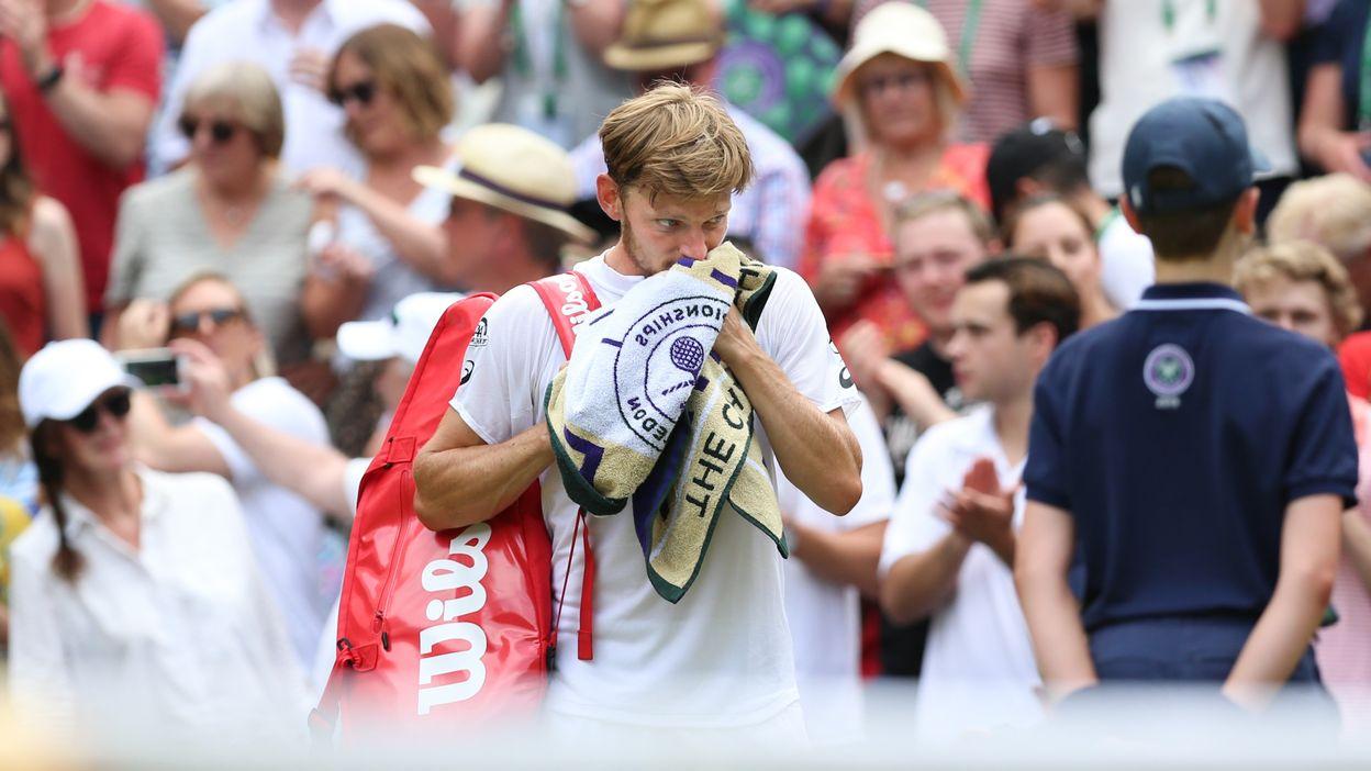 David Goffin après sa défaite contre Novak Djokovic