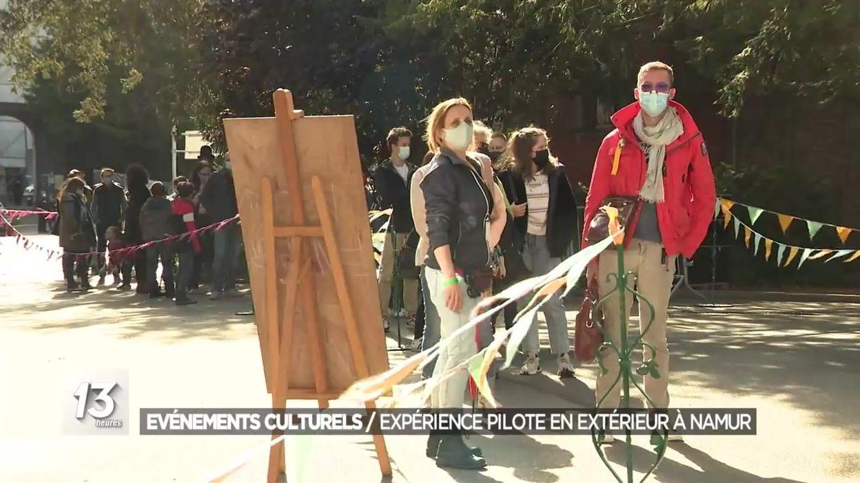 Evénements culturels : une expérience pilote en extérieur à Namur