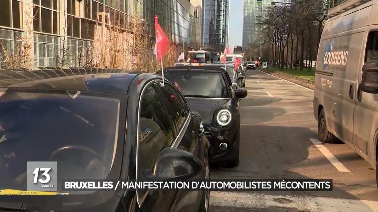 Bruxelles : manifestation d'automobilistes mécontents