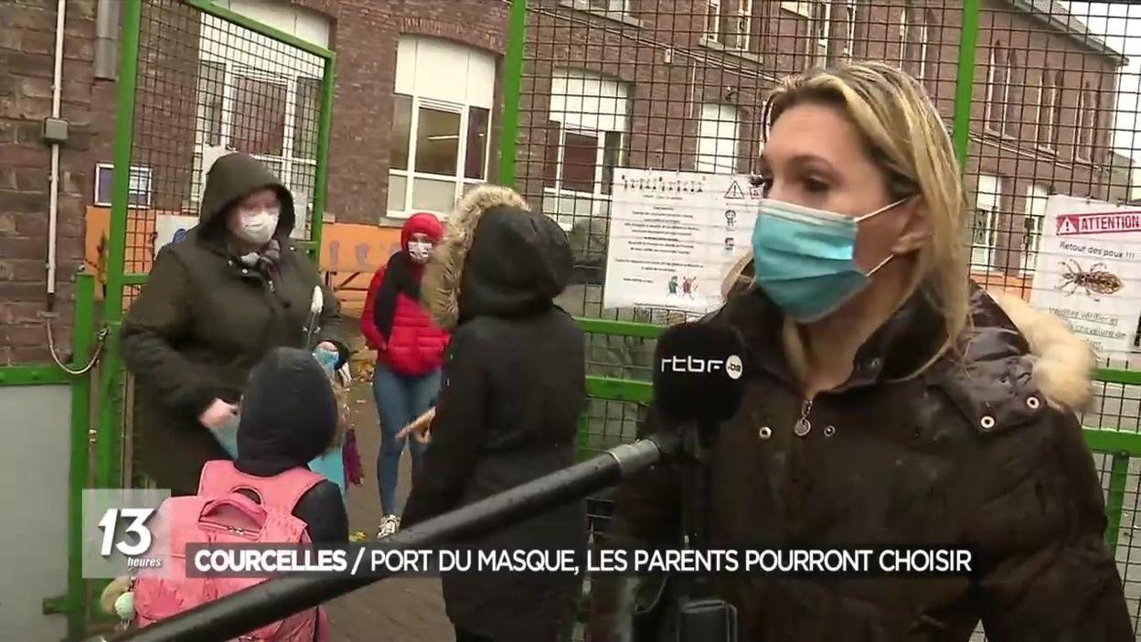 Courcelles : port du masque pour les enfants ? Les parents pourront choisir