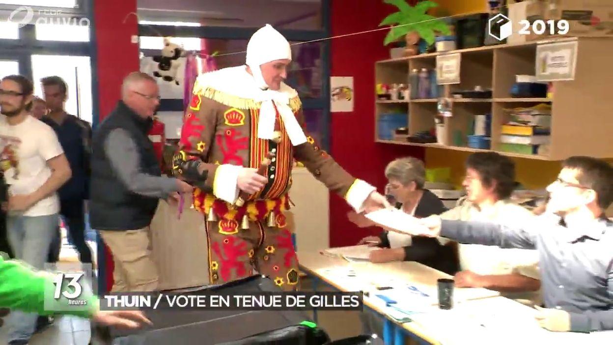 Vote des Gilles à Thuin