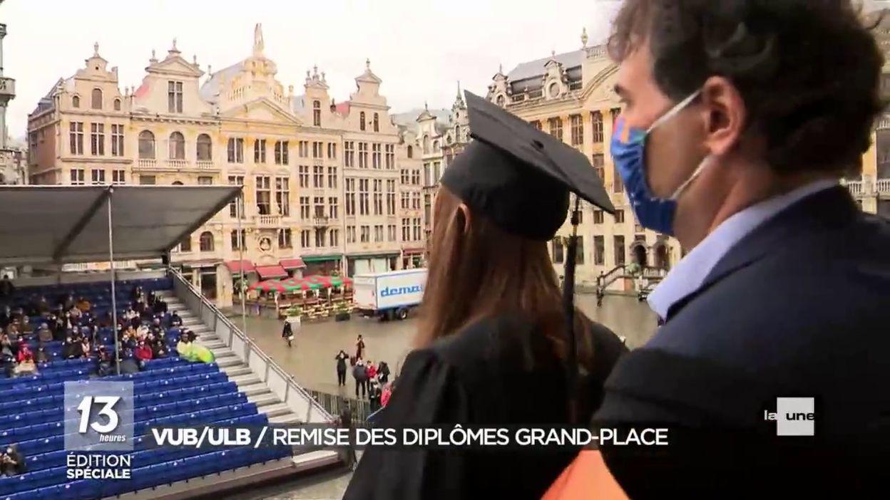 VUB/ULB : remise de diplômes à la Grand Place