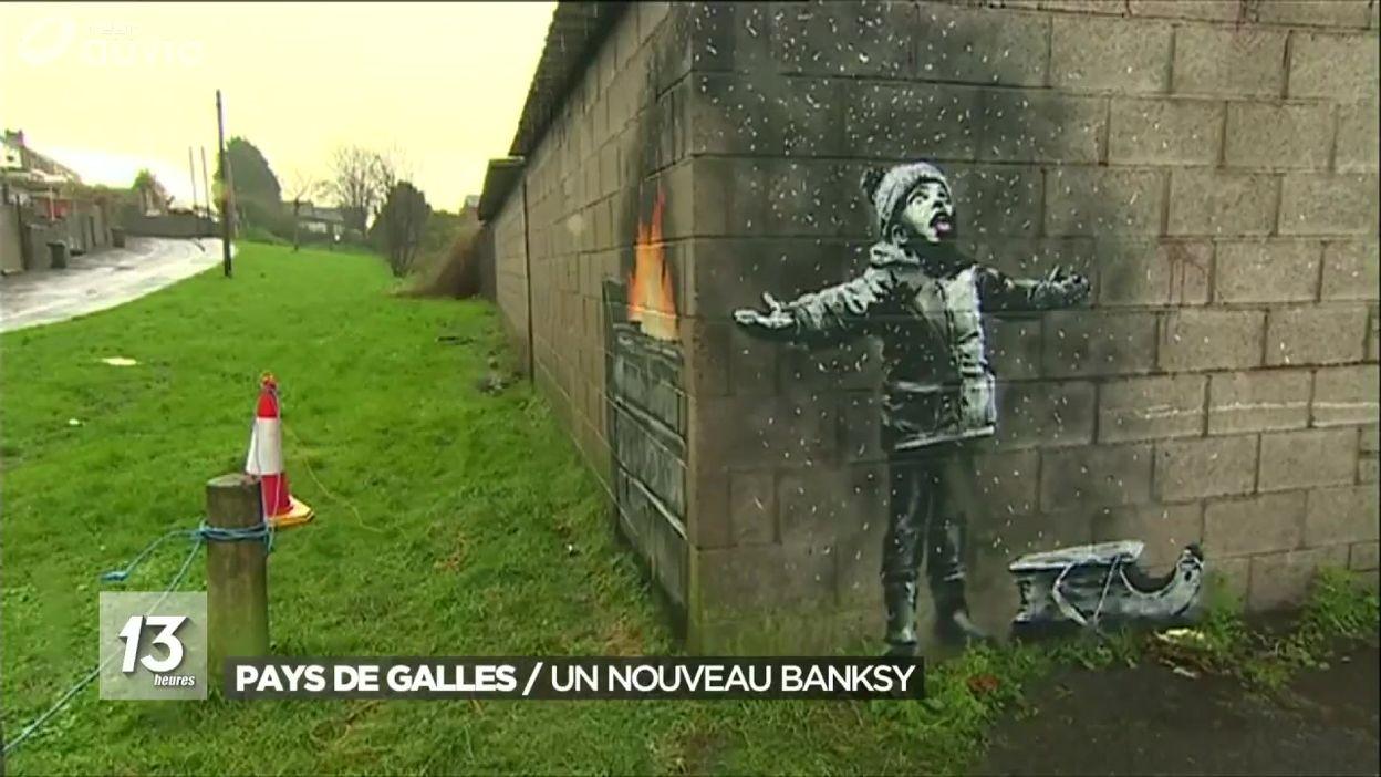 Un nouveau Banksy découvert aux Pays de Galles