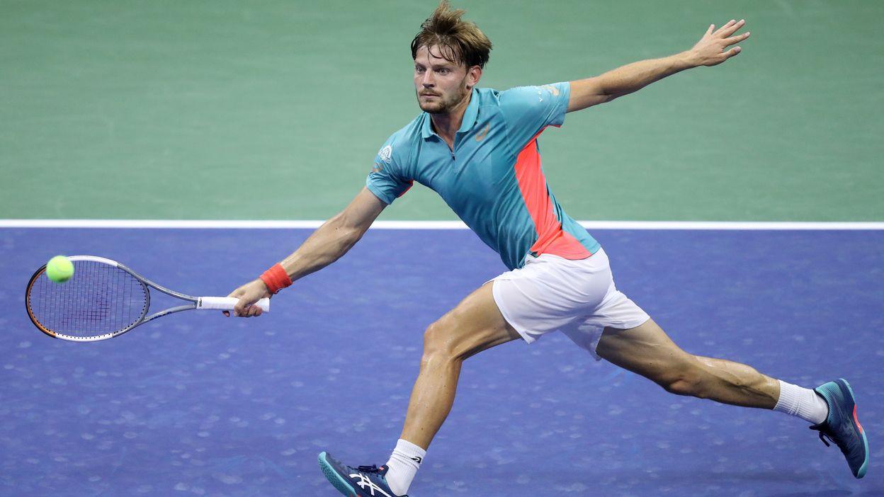 David Goffin après sa défaite en 8e de finale de l'US Open