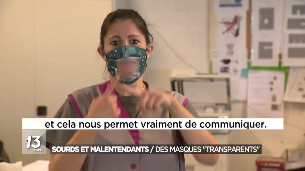Sourds et malentendants : des masques transparents