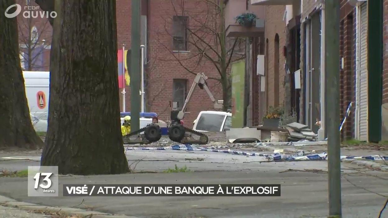Visé : attaque d'une banque à l'explosif