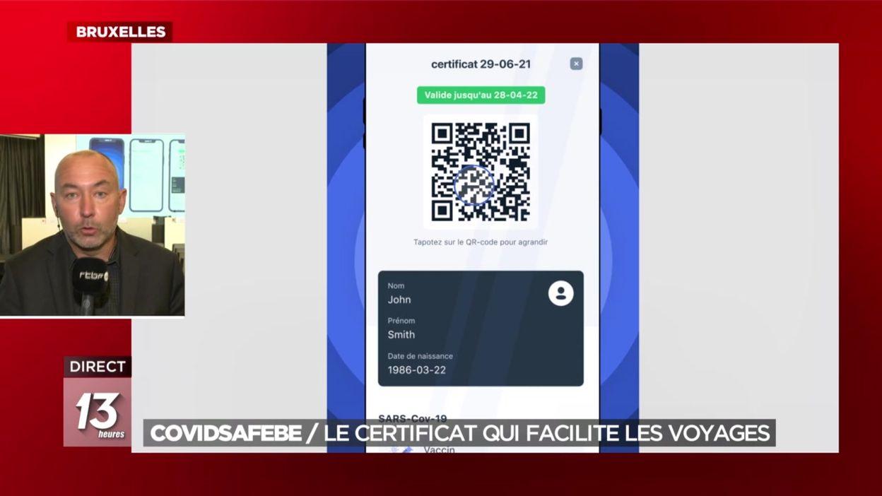 CovidSafeBE : le certificat qui facilite les voyages